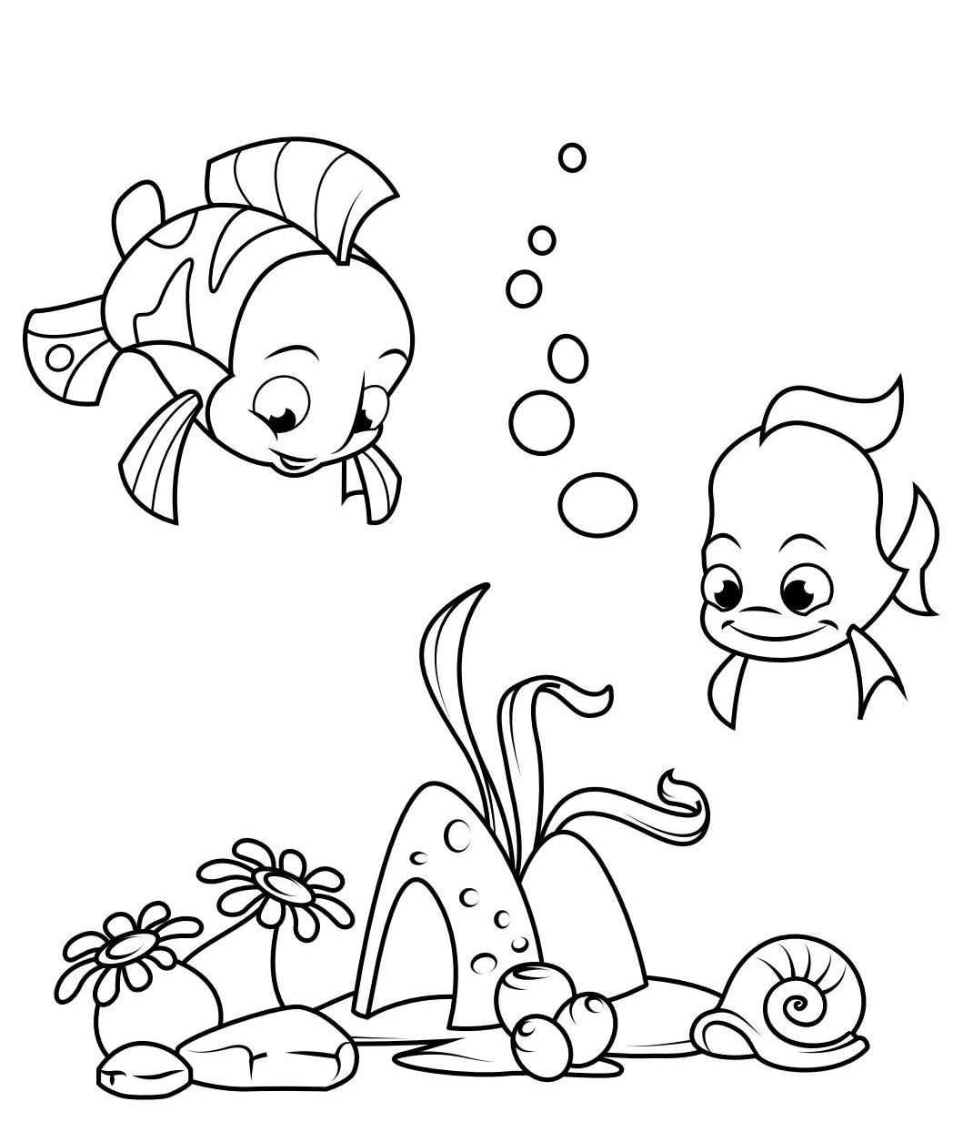 Fish Coloring Pages Pdf En 2020 Con Imagenes Dibujos