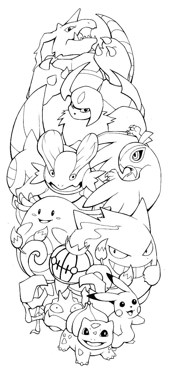 The Finalized Pokemon Tattoo Design By H0lyhandgrenade As Mentioned On The Podcast Pokemon Swampert Nidoking Pokemon Tattoo Pokemon Coloring Pages Pokemon