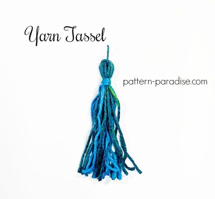 Tutorial: Yarn Tassel | Pattern Paradise | llaveros | Pinterest ...