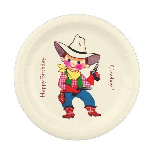 sc 1 st  Pinterest & Cowboy Kid Party Paper Plate | Cowboy Birthday Party | Pinterest