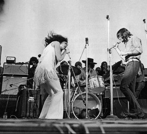 Jefferson Airplane on stage at Woodstock, 1969.