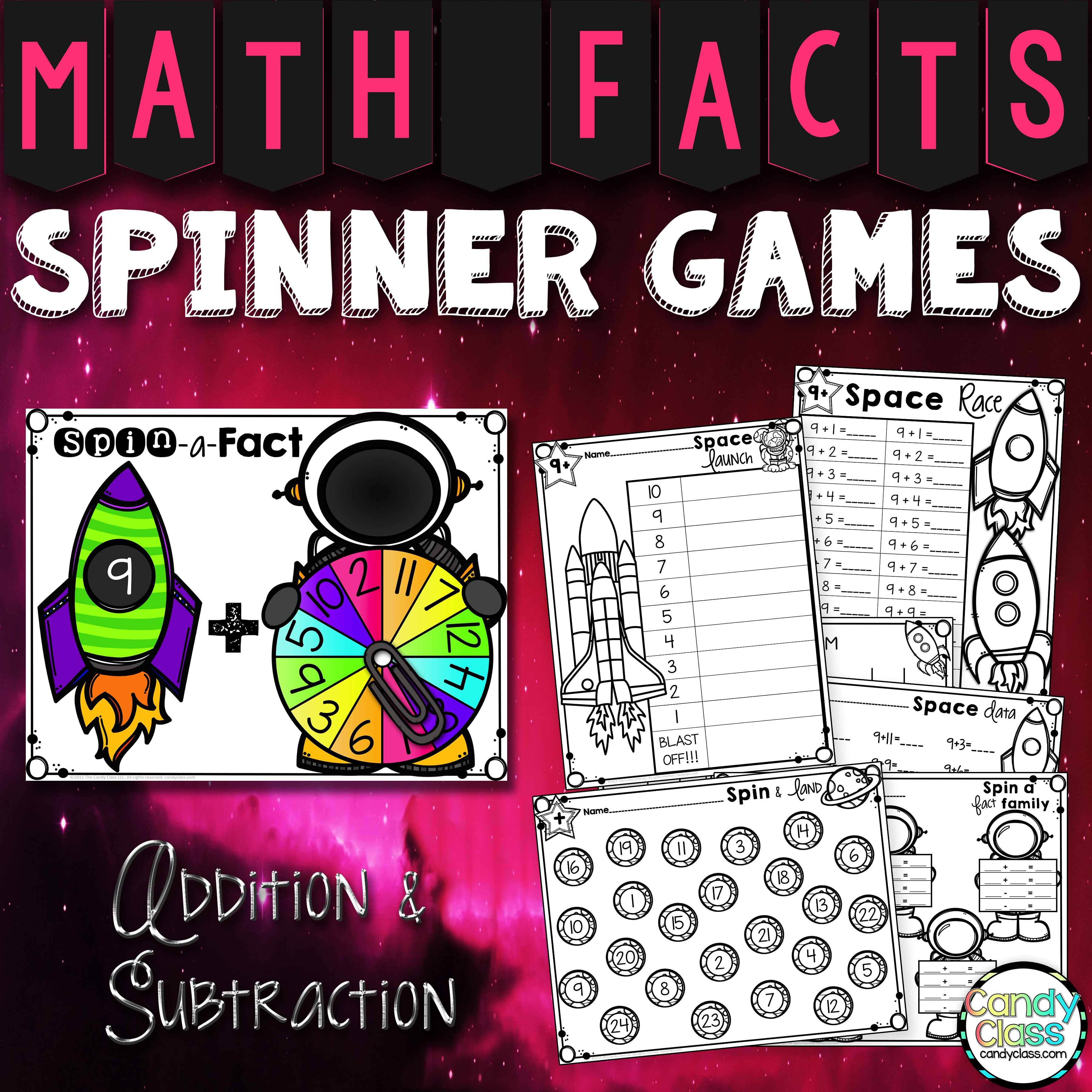 Math Facts Fluency Games Addition And Subtraction Games For Math Centers