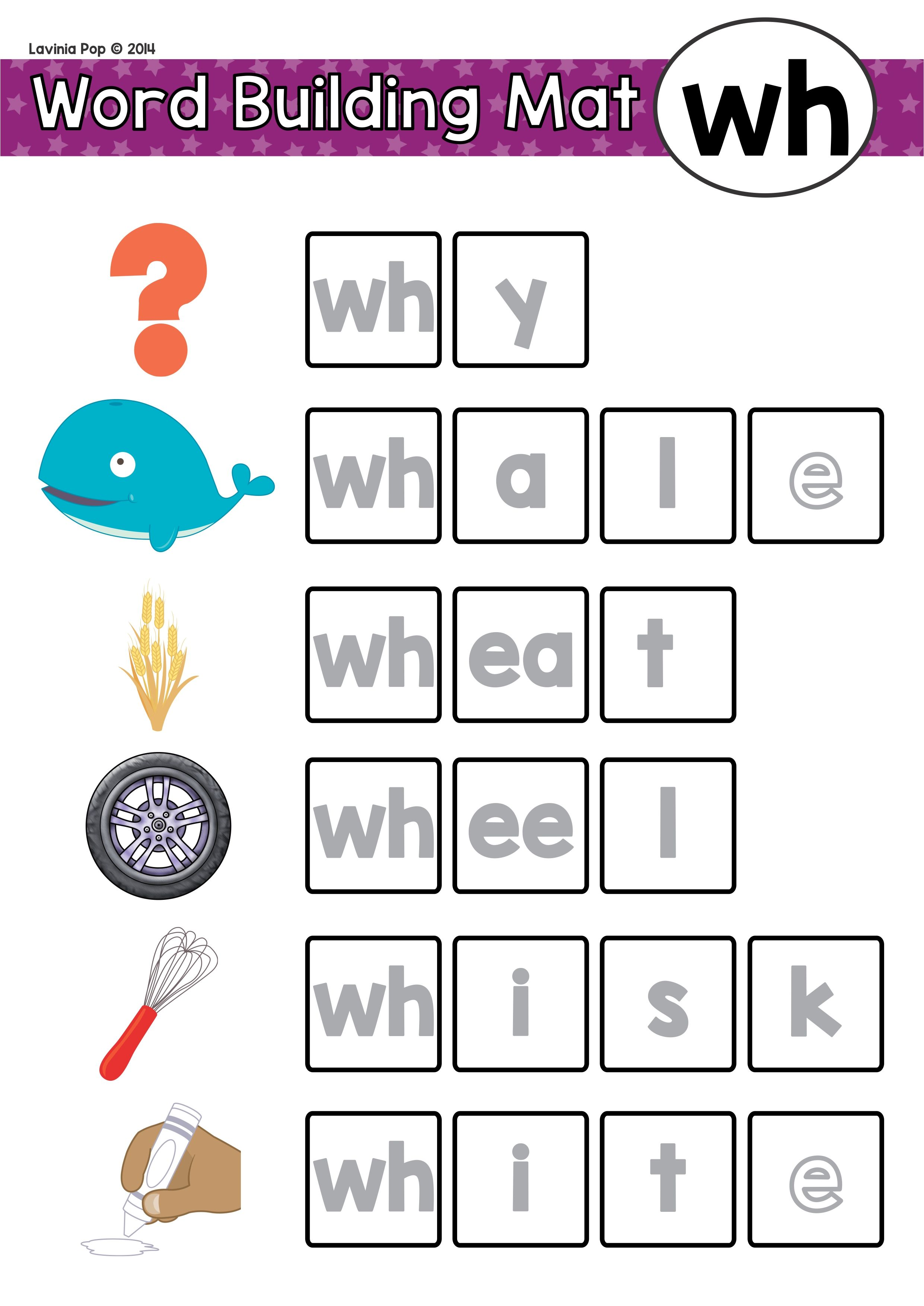 hight resolution of FREE Digraph WH: Phonics Word Work {Multiple Phonograms}   Phonics words
