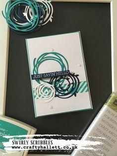 Blue Swirly Scribbles