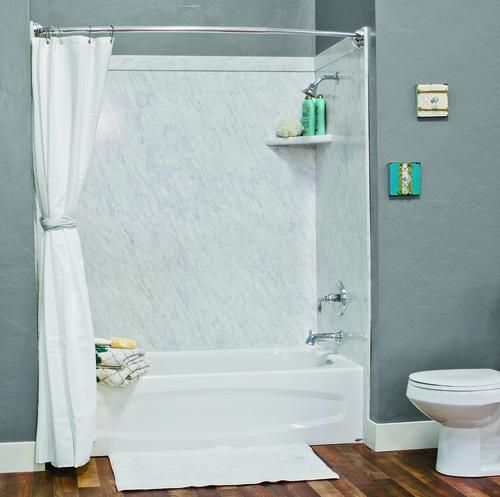 Flexstone 60 X32 X60 Elite 3 Panel Tub Kit At Menards Bathtub
