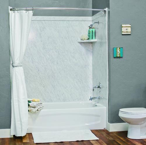 Flexstone 60 X32 X60 Elite 3 Panel Tub Kit At Menards Bathtub
