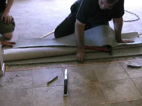 How To Carpet To Tile Transition On A Concrete Floor Home