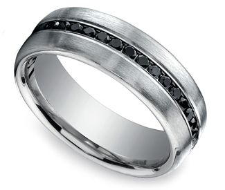 black diamond channel mens wedding ring in platinum but with sapphires of - Mens Black Diamond Wedding Rings