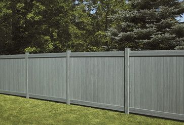 Bufftech Certagrain Chesterfield Arctic Blend Vinyl Privacy Fence Contemporary Fencing Other Metro Vinyl Privacy Fence Vinyl Fence Contemporary Fencing