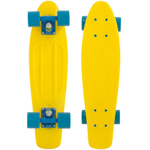 Penny 22 Quot Skateboard Complete Fluorescent Yellow Blue