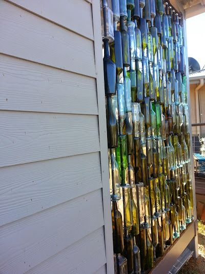 Wine Bottle Wall Decor A Husband And Wife Want Privacy On Their Porch But Instead Of