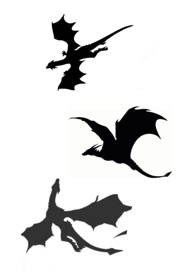 Dieses Dieses Game Of Thrones Tattoo Drachen Silhouette Kleine Drachen Tattoos