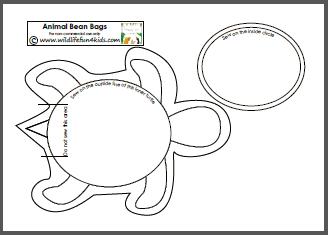 bean bag sewing template