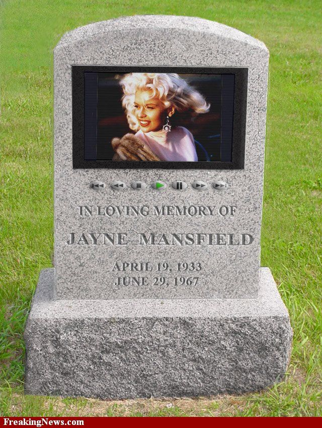 Your own eulogy video can be displayed on a headstone like this