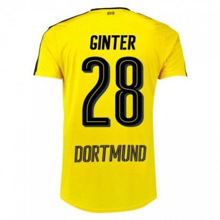 BVB Borussia Dortmund 16-17 Matthias  Ginter 28 Hemmatröja  Kortärmad,259 6f23ea183c0d1
