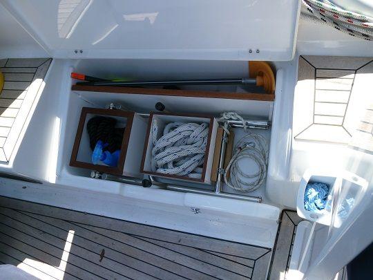 organizing the starboard cockpit locker myhanse hanse yachts