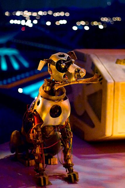 Audio Animatronic Dog Space Mountain Magic Kingdom Florida Travel