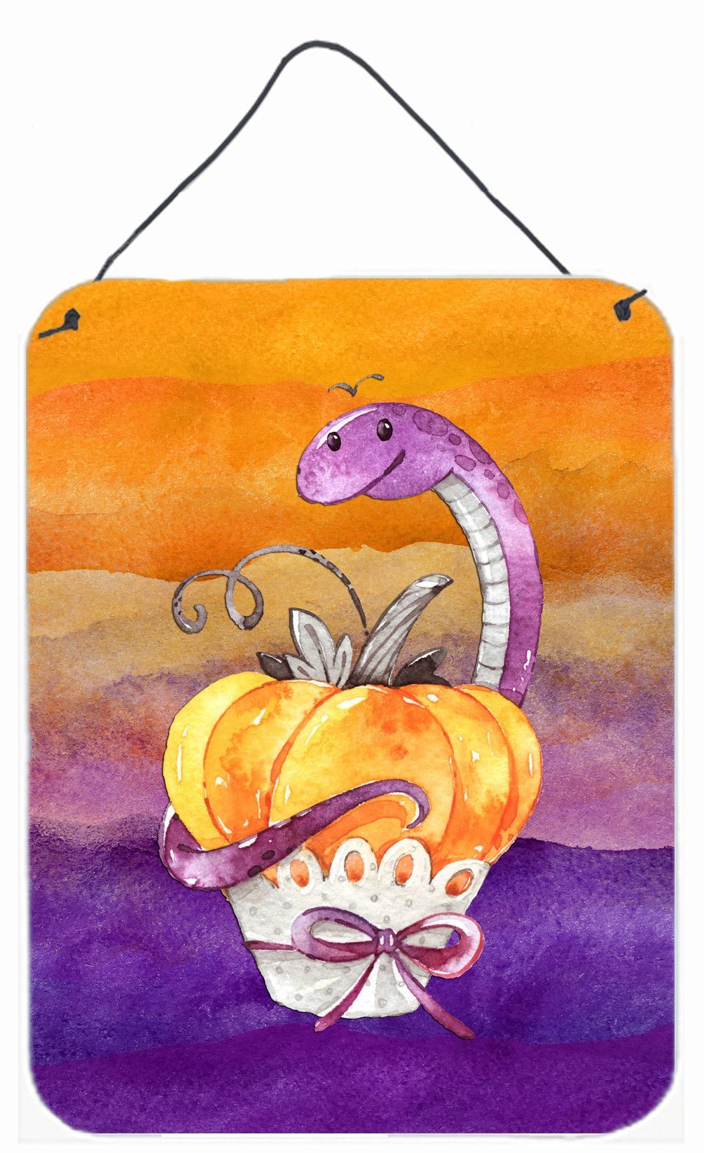 Halloween Pumpkin Snake Wall or Door Hanging Prints BB7465DS1216