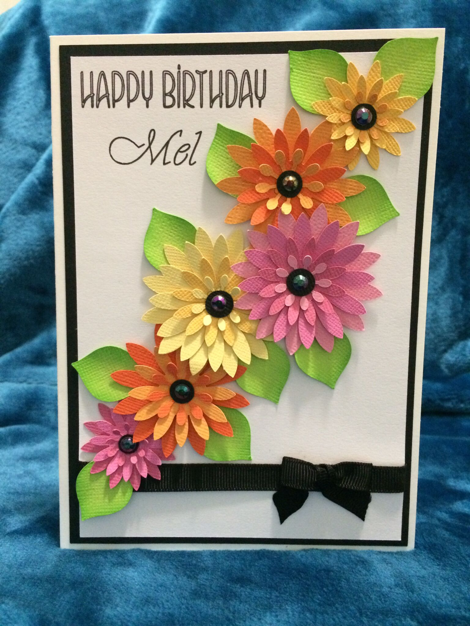 Ladies Flower Birthday Card Leahs Paper Cuts And Creations