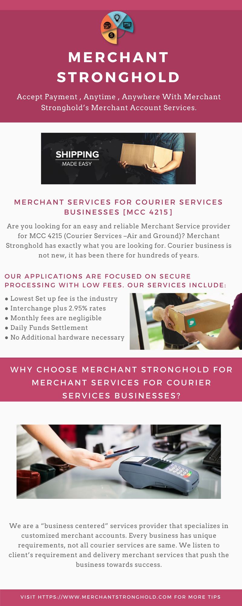 Merchant Account Services For Courier Services Businesses | Merchant