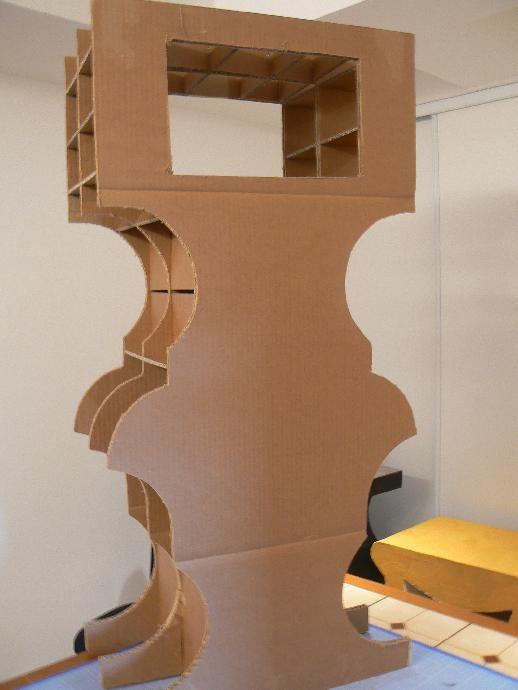 Tutoriel meuble d co cr ations en carton cartonnage femme2decotv m veis papel - Tutoriel meuble en carton ...