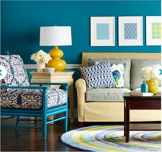 Decorating In Blue Yellow Decor Living Room Colors