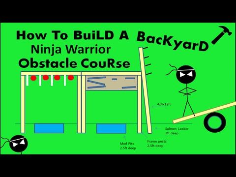 Ninja Warrior Course NEW OBSTACLES BLUEPRINTS How To Build Your Own