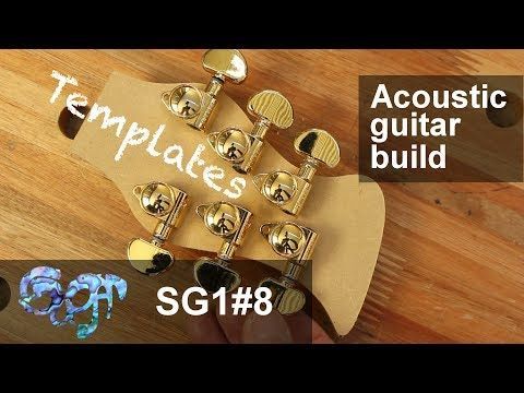SuGar SG1 acoustic guitar build part 8: Templates and headstock design - YouTube
