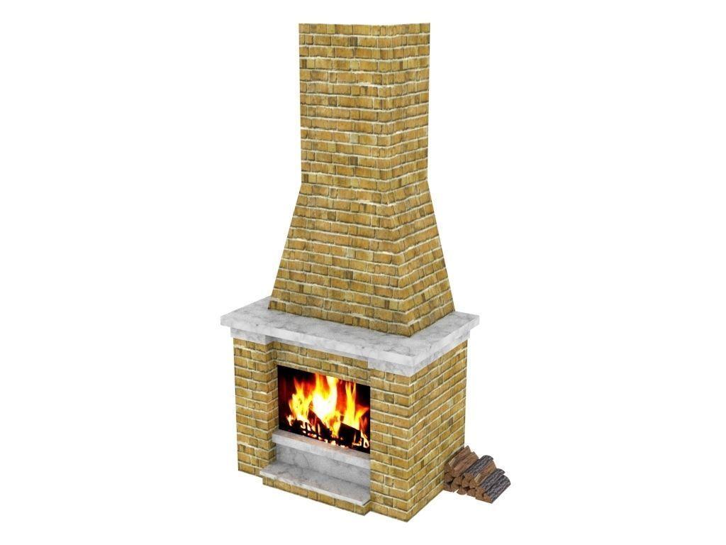 Fireplace 3d Model In 2020 Modern Kitchen Interiors Interior