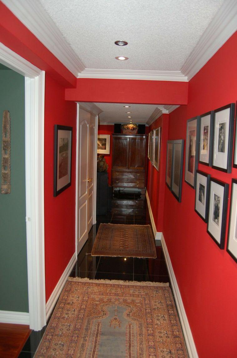 Decorar El Pasillo De Color Rojo Intenso Decoraci N Pinterest  ~ Decorar Pasillo Estrecho Y Largo