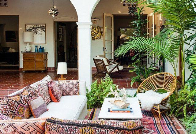 garten terrasse gestaltung boho chic trend kissen teppiche. Black Bedroom Furniture Sets. Home Design Ideas