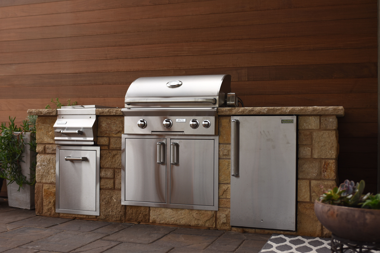 Our Work Portfolio Outdoor Kitchen Trash Can Outdoor Decor