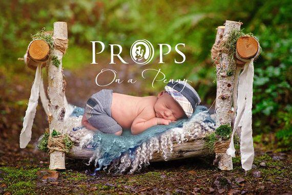 neugeborene h lzerne st tze bett neugeborenen von propsonapenny newborn photography props. Black Bedroom Furniture Sets. Home Design Ideas