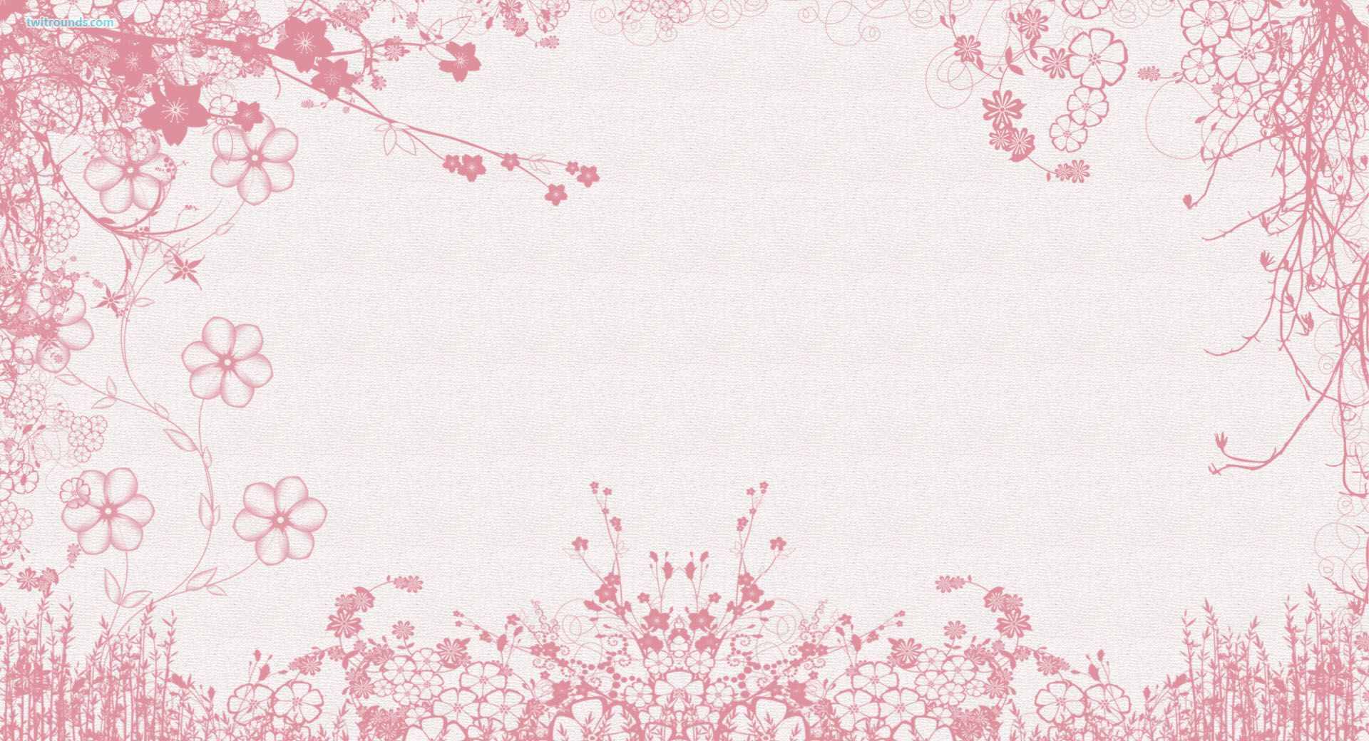 Flowerbackground Pink Flowers Twitter Background Twitter