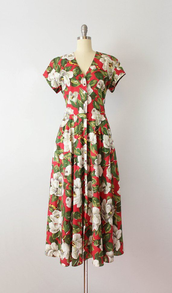 394a2a06400 vintage 80s floral maxi dress   1980s bold floral sundress   large floral  print dress   open back su