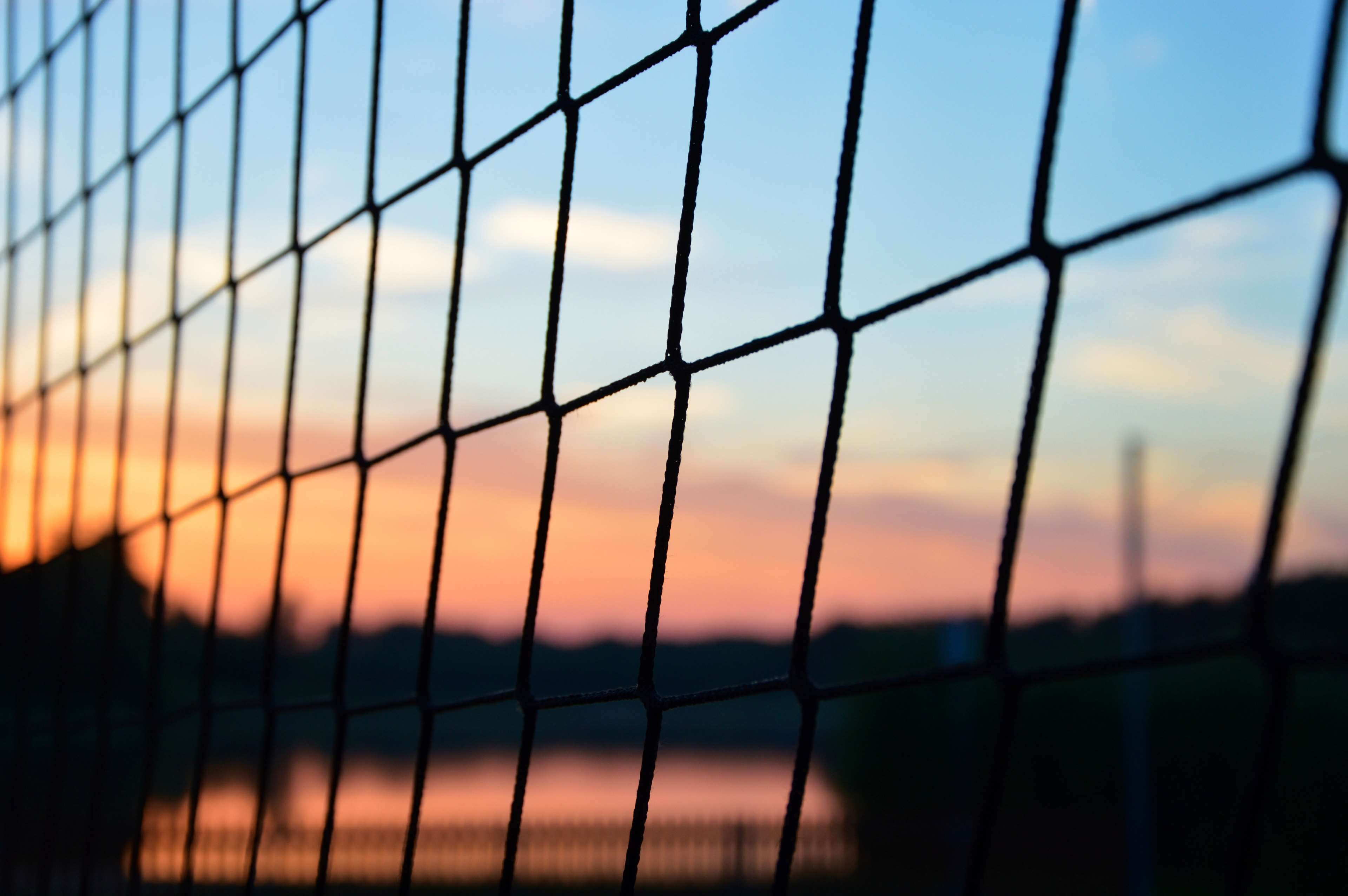 Colors Fence Lake Net Sky Summer Sunset Volleyball Volleyball Wallpaper Volleyball Inspiration Volleyball