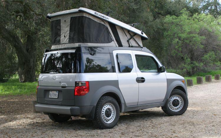 honda element w ecamper pop top shelter pinterest honda cars and other. Black Bedroom Furniture Sets. Home Design Ideas