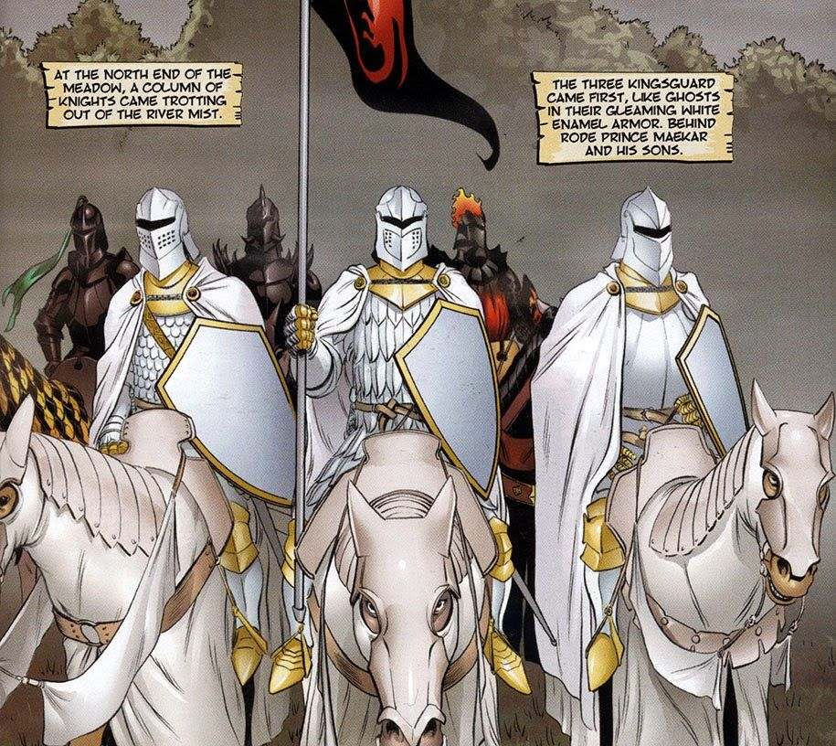 hedge knight comic kingsguard | geeky stuff by the wizard!