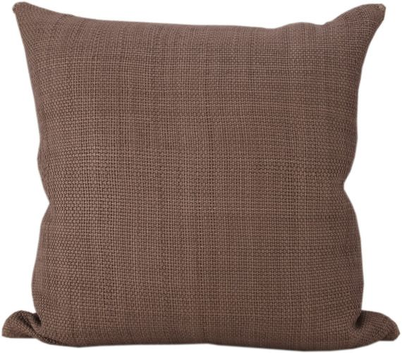 Royal Bohemian Handwoven Leather Pillow In Clay, Lance