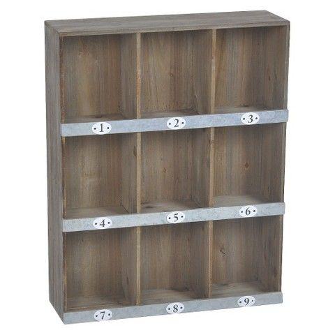 Wooden Wall Shelf 9 Slot Wooden Wall Shelves Wall Shelves Wall Cubbies