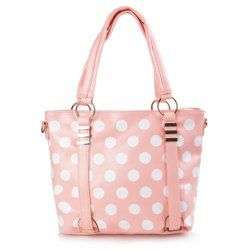 $9.66 Casual Women's Shoulder Bag With Dots and Metal Design