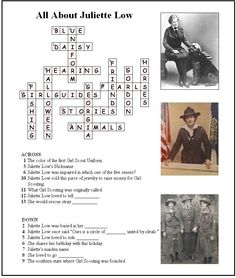 Juliette Gordon Low Printables Answer Key For Juliette Low