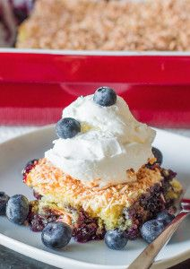 Blueberry Dump Cake | FaveHealthyRecipes.com