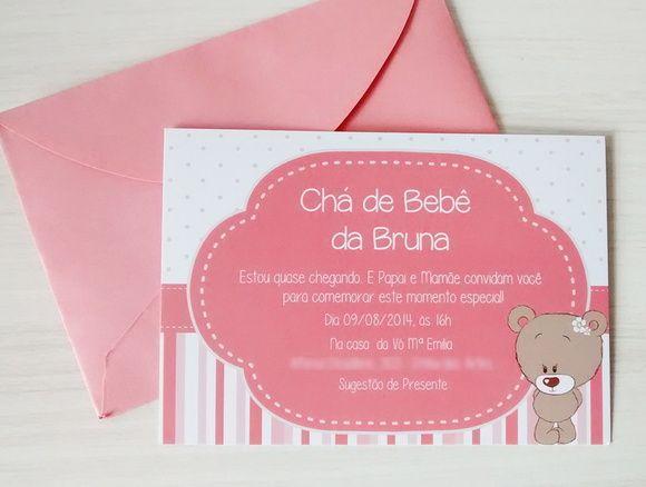 Convite - Tema Ursinha