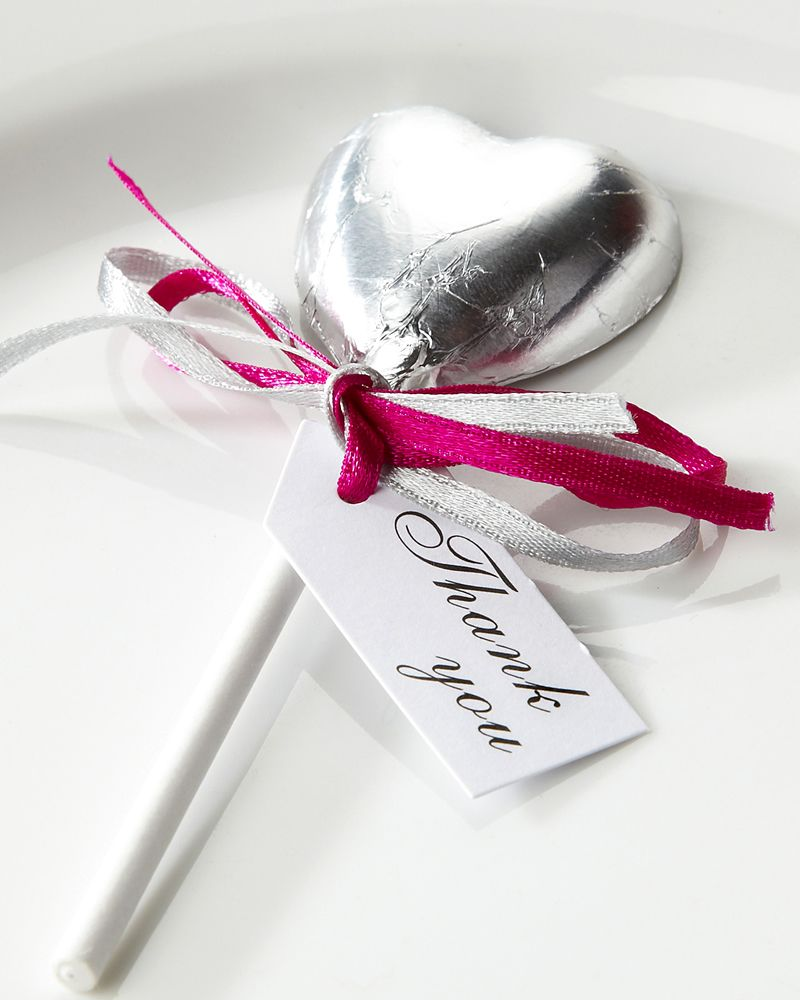 Silver choc lollies--with blue or purple ribbon perhaps | Dream ...