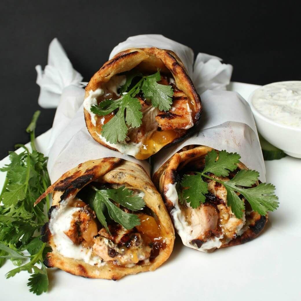 Easy Grilled Tandoori Chicken Wrap Recipe - Dish 'n' the Kitchen #tandoorichicken