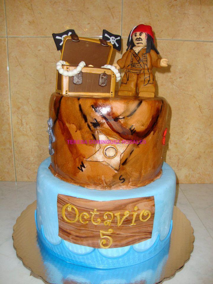 #lego pirata cake