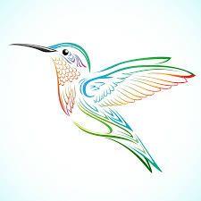 Rainbow Hummingbird Water Nail Decals Desenhos Tatuagens