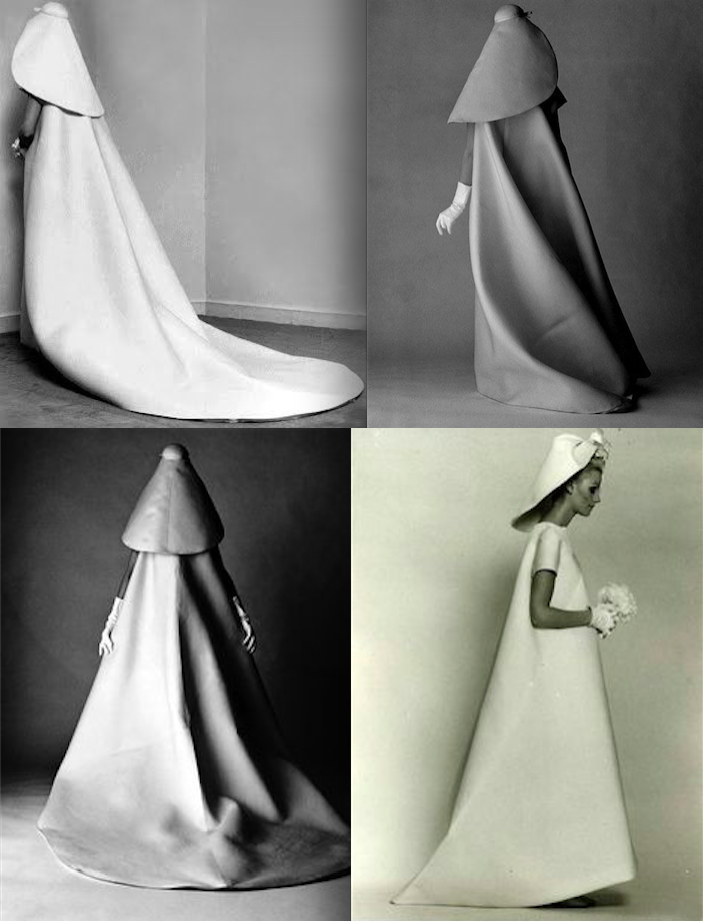 Balenciaga\'s bridal gown for Vogue\'s 1967 July issue photo - David ...