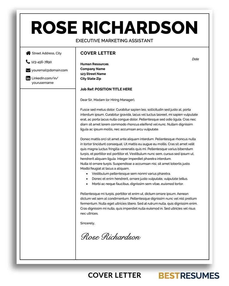 Professional Resume Template Rose Richardson BestResumes